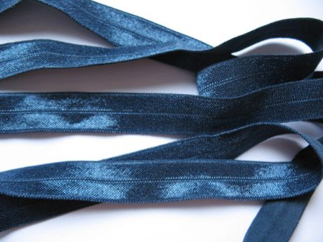 2 YARD OF NAVY BLUE FOLDOVER ELASTIC SIZE 5/8 PERFECT FOR HEADBANDS BABY FOE JUST 79P